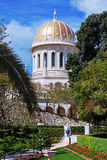Bab寺庙在Bahai庭院里 库存照片