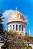 Bab寺庙在Bahai庭院里 免版税图库摄影