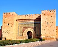 Bab Agnaou -is one of the nineteen gates of Marrakesh, Morocco. It was built in the 12th centrury in the time of the Almohad. Dynasty royalty free stock image