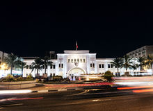 Bab al bahrain square landmark in central manama at night Stock Images