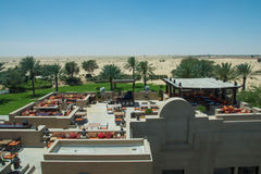 Bab Al Shams desert arabian resort view from the top of the roof Royalty Free Stock Photo