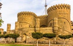 Bab AlAzhab,城堡的前主闸-开罗 免版税库存照片