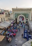 Bab Bou Jeloud gate (Blue Gate) in Fez, Morocco Royalty Free Stock Image