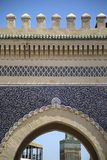 Bab Bou Jeloud gate (Blue Gate) in Fez, Morocco Stock Image