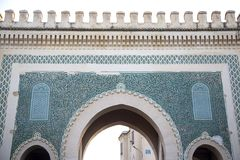 Bab Bou Jeloud gate (Blue Gate) in Fez, Morocco Royalty Free Stock Photos