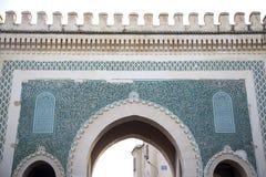 Bab Bou Jeloud gate (Blue Gate) in Fez, Morocco Royalty Free Stock Photos