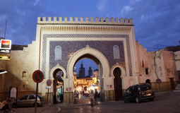 Bab Bou Jeloud gate in Fes Royalty Free Stock Photo