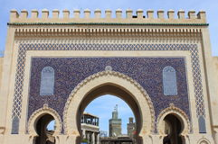 Bab Bou Jeloud gate in Fez Stock Photos