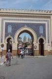 Bab Bou Jeloud, il portone blu, la conduttura gated l'entrata al ol fotografia stock libera da diritti