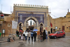 Bab Boujeloud Gate in Fes, Morocco Royalty Free Stock Photography