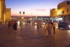 Bab Boujelud门在Fes摩洛哥 免版税库存图片