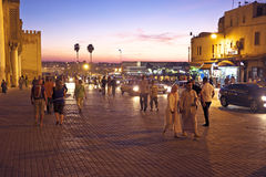Bab Boujelud Gate in Fes Morocco Royalty Free Stock Image