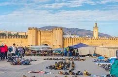 Bab Chorfa门 菲斯El巴厘岛麦地那 摩洛哥 免版税库存照片