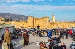 Bab Chorfa gate. Fez El Bali Medina. Morocco. Royalty Free Stock Photo