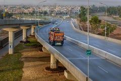 Bab e白沙瓦跨线桥,巴基斯坦 图库摄影