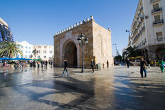 Bab el Bhar (Porte de  France or Sea Gate) Royalty Free Stock Image
