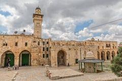 Bab el Ghawanimeh Mosque Minaret Jerusalem foto de stock