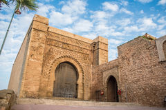 Bab el Kebir gate of Kasbah of the Udayas. Stock Photo