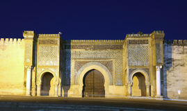 Bab El-Mansour gate in Meknes Royalty Free Stock Image