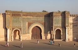 Bab El-Mansour gate in Meknes Stock Image