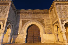 Bab Jama en Nouar door at Meknes, Morocco Stock Images