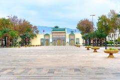 Bab L ` Makhzen, guld- port i kunglig slott Fes morocco Royaltyfria Bilder