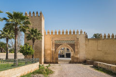Bab Lamar é a porta velha em Fes, Marrocos Fotografia de Stock Royalty Free