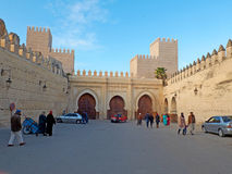Bab Makina Plaza. Fez El Jedid, Morocco. Africa. Stock Photo