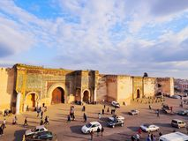 Bab Mansour in Meknes, Morocco Stock Photo