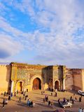 Bab Mansour in Meknes, Morocco Royalty Free Stock Image