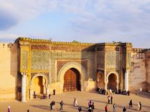 Bab Mansour in Meknes, Morocco Royalty Free Stock Photos