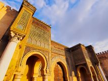 Bab Mansour in Meknes, Morocco Stock Photography