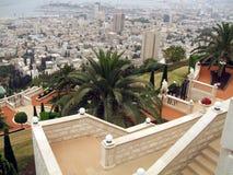 Bab Shrine Temple garden details in Haifa city, Israel Royalty Free Stock Image
