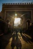 Baba Boujloud Błękitna brama w fezie, Maroko Zdjęcia Royalty Free