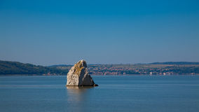 Baba Caia rock in Danube Stock Photo