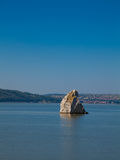 Baba Caia rock in Danube Stock Photography