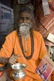 Baba en zijn Geestelijke Dingen stock foto's