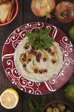 Baba ghanoush, eggplant dip Royalty Free Stock Images