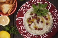 Baba ghanoush, levantine eggplant dip Royalty Free Stock Photo