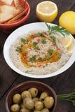 Baba ghanoush, levantine eggplant dish Stock Image