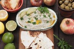 Baba ghanoush, levantine eggplant dish Royalty Free Stock Image