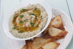 Baba ghanoush, levantine eggplant dish Stock Images