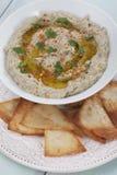 Baba ghanoush, levantine eggplant dish Stock Photo