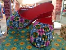Baba Nyonya beaded slippers Stock Photo