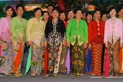 Baba Nyonya costumes Royalty Free Stock Photos