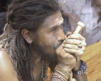 Baba przy Pashupatinath Zdjęcia Royalty Free