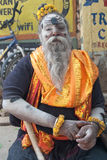 Baba in Varanasi. Holy man in holy city of  Varanasi, Uttar Pradesh, India Royalty Free Stock Images