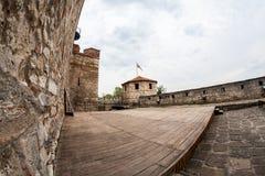 Baba Vida, eine mittelalterliche Festung in Vidin, in nordwestlichem Bulgarien stockfotos