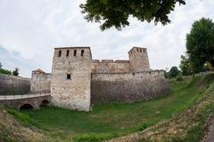 Baba Vida, eine mittelalterliche Festung in Vidin, in nordwestlichem Bulgarien stockfotografie
