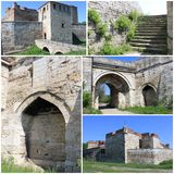 Baba Vida Fortress Collage. Collage of Medieval Fortress Baba Vida in Vidin, northwestern Bulgaria. The fortress is one of the biggest landmarks in the region Royalty Free Stock Photos